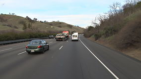 Truck passing on the highway. Video of truck passing on the highway stock video footage