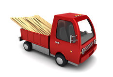 Truck with planks Royalty Free Stock Images