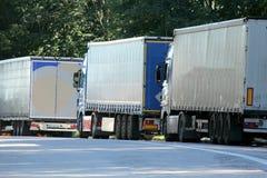 Truck platoon Royalty Free Stock Image