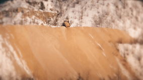 Truck pours sand in a quarry. HD stock video footage