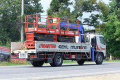 Truck of Promachine resource. Stock Image
