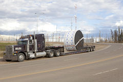 Truck pulling a load, Alberta, Canada Royalty Free Stock Photography