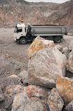 Truck in quarry Royalty Free Stock Photos