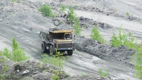 Truck in the quarry stock video