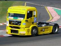 Truck race Stock Photo