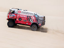 Truck races in Dakar 2013 Royalty Free Stock Images