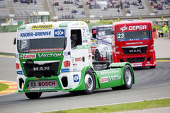 Truck racing Stock Photography