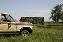 Truck on Ranch in Wyoming. Royalty Free Stock Photography