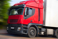 Truck with red cabin Stock Photo