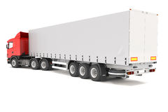 Truck - Red - Shot 02 Royalty Free Stock Photos