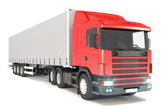 Truck - Red - Shot 03 Royalty Free Stock Photo