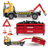 Truck with removable container Stock Images