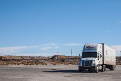 A truck on the rest area Stock Photography