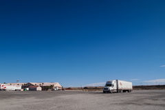 A truck on the rest area Royalty Free Stock Photos