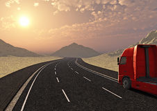 Truck and road Royalty Free Stock Photography