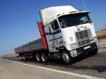 Truck by road Royalty Free Stock Photo