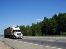 Truck by road royalty free stock photography