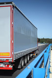 Truck on the road Stock Photography