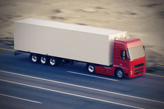 Truck on the road. Royalty Free Stock Images