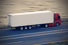 Truck on the road. Royalty Free Stock Photography