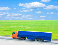 Truck on road Royalty Free Stock Photo