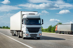 Truck on road. Cargo transportation Stock Photo