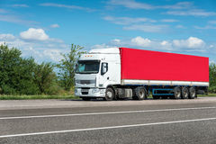 Truck on road Royalty Free Stock Photography