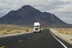 Truck on the Road in Death Valley Stock Image