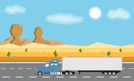 Truck on the road. Delivery concept. Royalty Free Stock Photo
