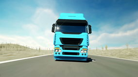 Truck on the road, highway. Transports, logistics concept. super realistic animation with physiks motion. Truck on the road, highway. Transports, logistics stock footage