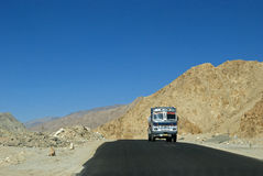Truck on the road, Ladakh, India Stock Images