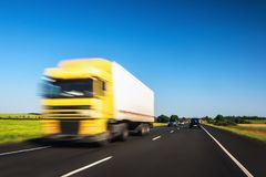 Truck on road royalty free stock images