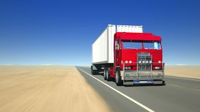Truck on the road (Loop). A heavy truck on the road stock video