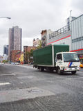 Truck on road in Manhattan Royalty Free Stock Images