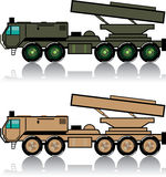 Truck rocket launcher. Illustration clip-art eps vector Royalty Free Stock Photo