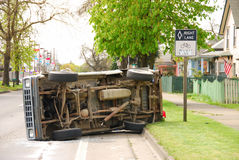 Truck Rollover Stock Photography