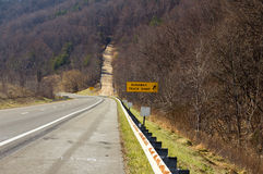 Truck Runaway Ramp Stock Photo