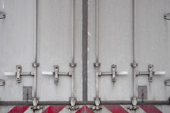 Truck's back door Royalty Free Stock Photography