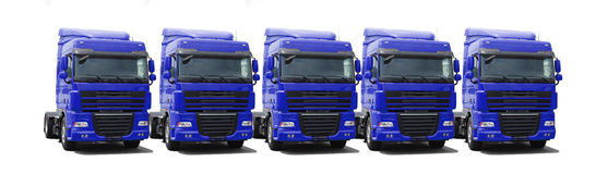 Truck's fleet Stock Image