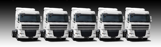 Truck's fleet stock photography