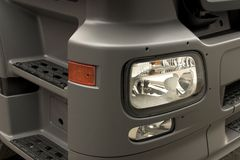 Truck's light. Brand new truck with shiny new equipment Royalty Free Stock Images