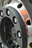 Truck's wheel rim Stock Photography