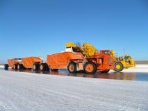 Truck on saline factory Stock Photo