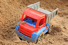 Truck on sand Stock Photos