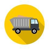 Truck with sand icon. Vector icon royalty free illustration