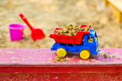 Truck in the sandbox Royalty Free Stock Photography