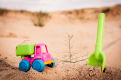 Truck in the sands Stock Photos
