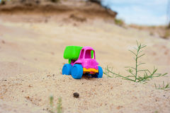 Truck in the sands Stock Images
