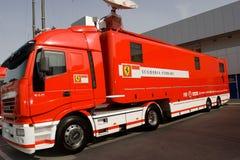 Truck of Scuderia Ferrari Stock Photos