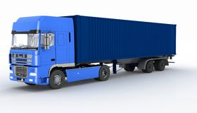 Truck with semi-trailer Royalty Free Stock Photography